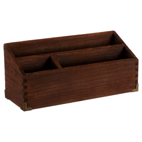 Desktop Storage Unit Wood - Threshold™ - image 1 of 4