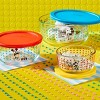 Pyrex 6pc Round Decorated Glass Food Storage Set - Mickey Mouse The True Original - image 2 of 4