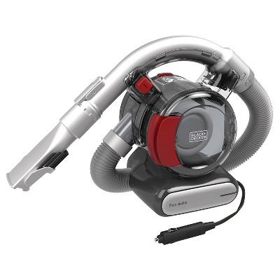 BLACK+DECKER™ 12V Automotive Flex Vacuum - Gray with Chili Red BDH1200FVAV