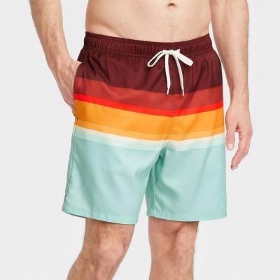 "Men's 7"" Plaid Swim Trunks - Goodfellow & Co™ Red"