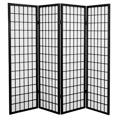 5 ft. Tall Window Pane Shoji Screen - Oriental Furniture