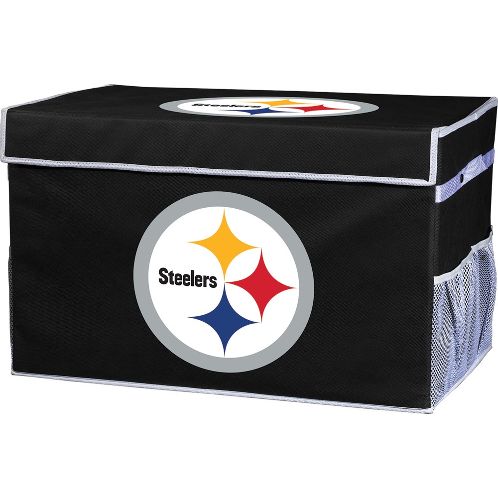 NFL Franklin Sports Pittsburgh Steelers Collapsible Storage Footlocker Bins - Small, Multicolored