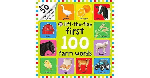 First 100 Farm Words (Hardcover) (Nicola Friggens & Robyn Newton & Amy Oliver) - image 1 of 1