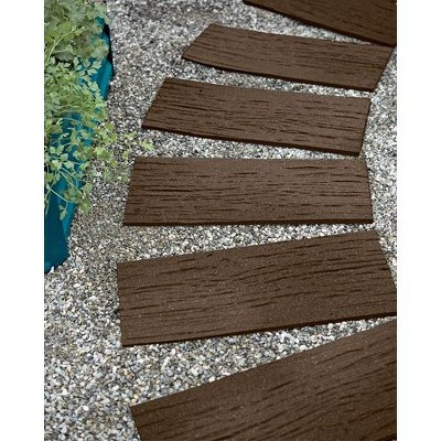 Gardener's Supply Company Recycled Rubber Railroad Tie Stepping Stone - Gardener's Supply Company