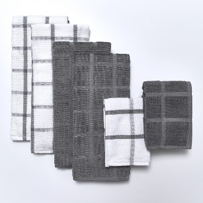 Lakeside Terry Cotton Kitchen and Bathroom Towel Set - 6 Pieces