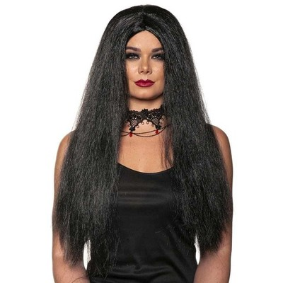 Underwraps Witch One Size Adult Costume Wig | Black