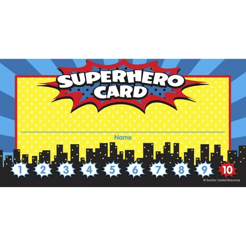 Teacher Created Resources Superhero Punch Cards, 5-3/4 x 3 inches, pk of 60 - image 1 of 1