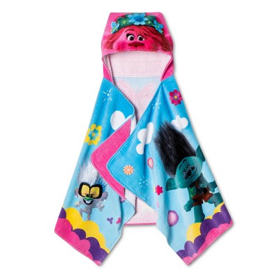 Trolls World Stage Hooded Towel