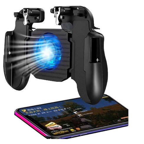 Mobile Game Controller with Cooling Fan, Rubber Non-Slip Ergonomic Handle for Better Comfort Game Trigger Joystick Gamepad, Non-slip Pads - image 1 of 3