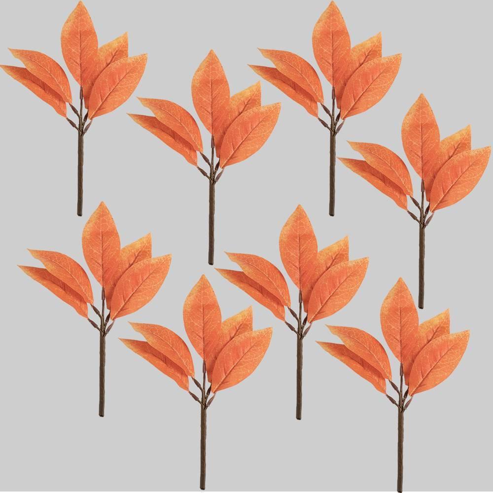 8pk Orange Magnolia Leaf Picks - Bullseye's Playground was $8.0 now $4.0 (50.0% off)
