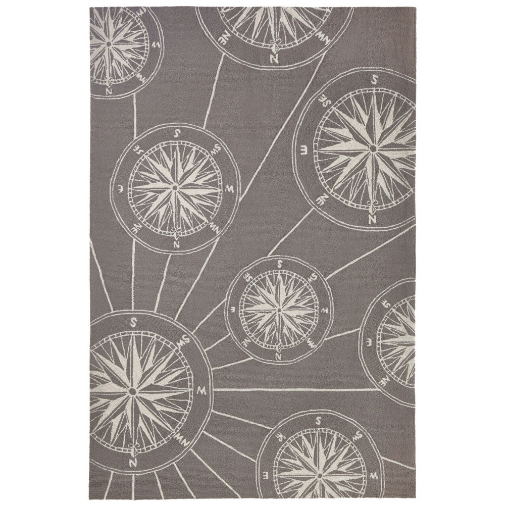 "Image of ""3'6""""X5'6"""" Shapes Accent Rug Gray - Liora Manne"""