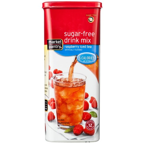 Sugar-Free Raspberry Iced Tea Drink Mix - 1.69oz Canister - Market Pantry™ - image 1 of 1