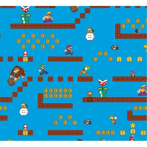 Nintendo Super Mario Game Scenes Fabric - image 1 of 1
