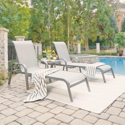 Daytona Outdoor Chaise Lounge - Dark Gray - Home Styles