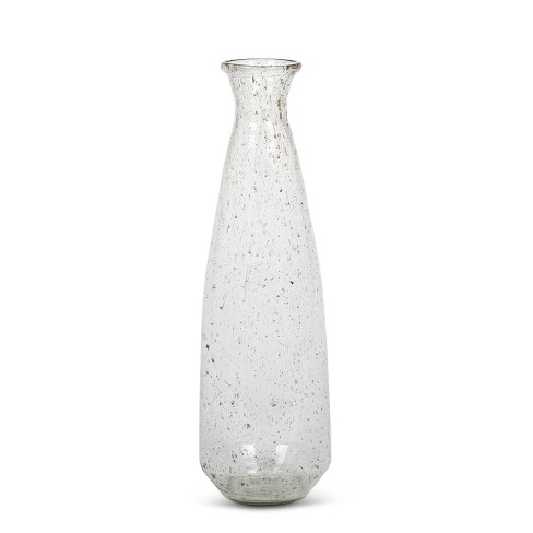 Lone Elm Studios 22 Tall Recycled Glass Vase Clear And Spotted Target