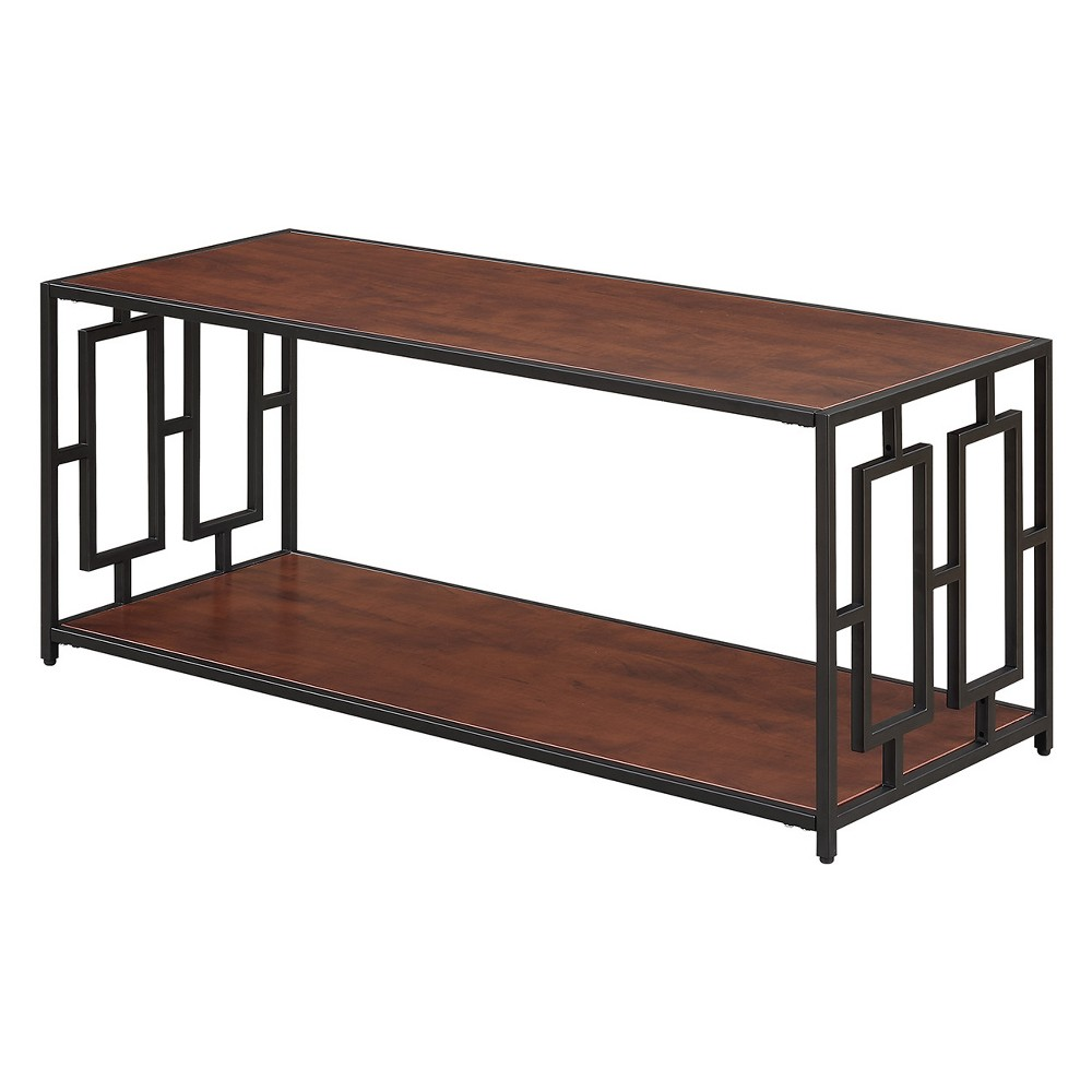 Johar Furniture Town Square Metal Coffee Table Cherry/Black