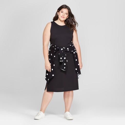 Women\'s Plus Size Sleeveless Knit Maxi Dress - A New Day™ Black 4X