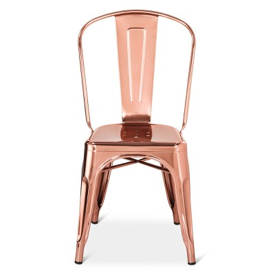 Carlisle Couture High Back Metal Dining Chair - Rose Gold