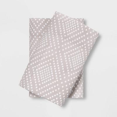 King Easy Care Printed Pillowcase Set Geo Chevron - Room Essentials™