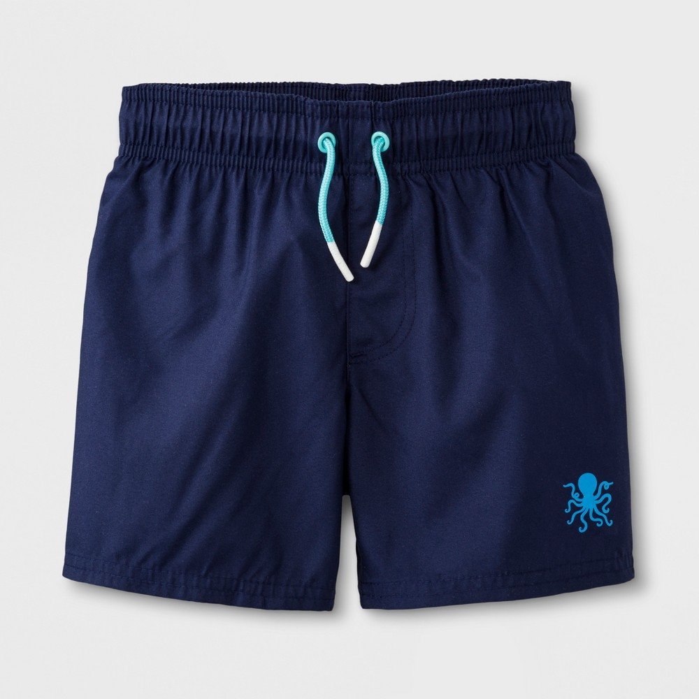 a0b92ec64b Toddler Boys Solid Swim Trunks Cat Jack Navy 4T Blue