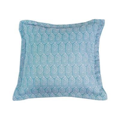 Sugar Chevron Outdoor Deep Seat Pillow Back DuraSeason Fabric™ Aqua - Threshold™