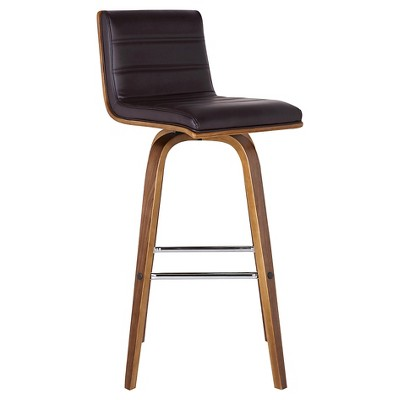 26  Vienna Faux Leather Counter Stool - Brown - Armen Living