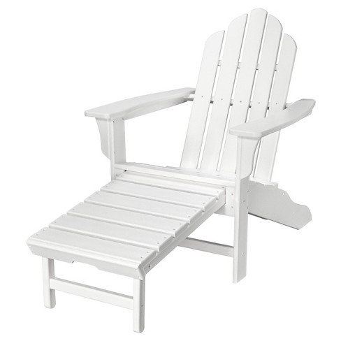 Pleasant Hanover All Weather Contoured Adirondack Chair Withhideaway Ottoman White Beatyapartments Chair Design Images Beatyapartmentscom