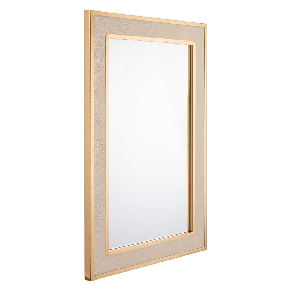 ZM Home 35 Modern Luxe Mirror Cream (Ivory)