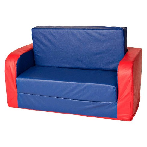 foamnasium™ Pullout Sofa Play Furniture - Blue/Red - image 1 of 5