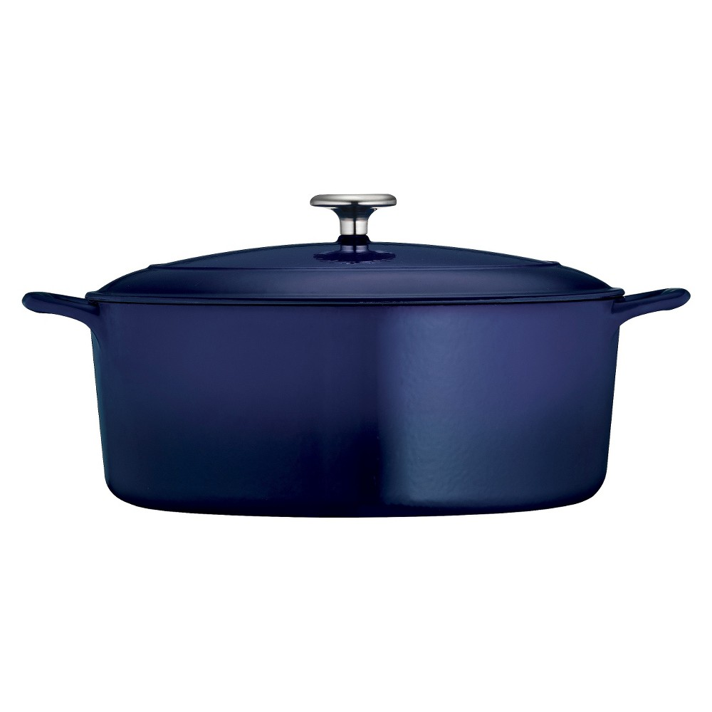 Image of Tramontina 7qt Cast Iron Dutch Oven Blue