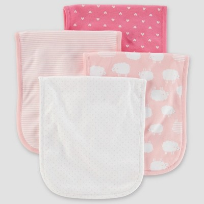 Baby Girls' 4pk Burpcloths - Just One You® made by carter's Pink Sheep One Size