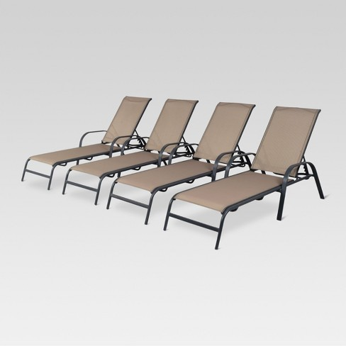 4pk Stack Sling Patio Lounge Chair - Threshold™ - image 1 of 4