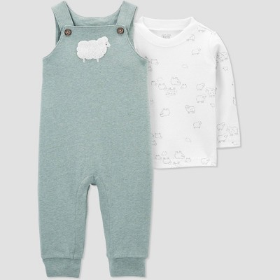 Baby Sheep Top & Bottom Set - Just One You® made by carter's Sage Green Newborn