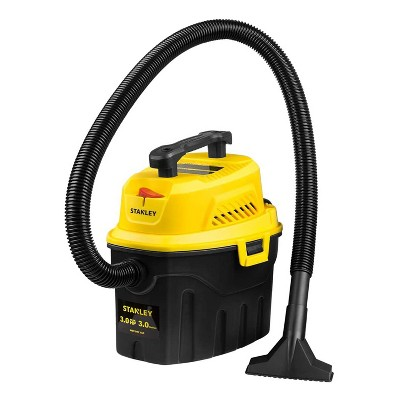 Stanley SL18910P-3 3 Gallon 3 Max HP Portable Lightweight Wet/Dry Vacuum Cleaner for Cleaning Home, Garage, Workshop, or Vehicle, Yellow
