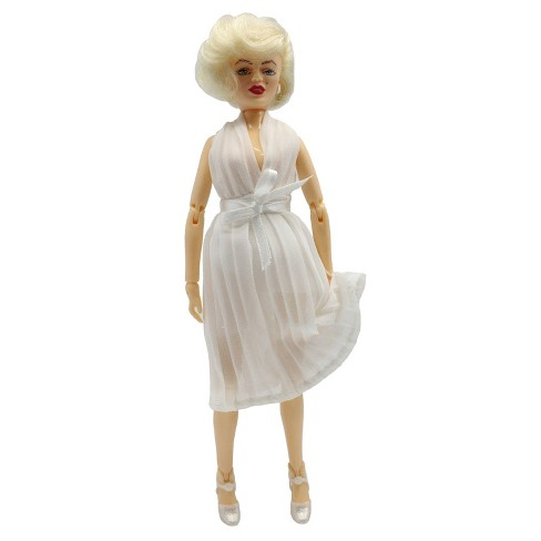 "Mego Marilyn Monroe in White Dress Action Figure 8"" - image 1 of 3"