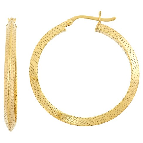 "Gold Over Silver ""Snake Skin"" Style Hoop Earrings - image 1 of 1"