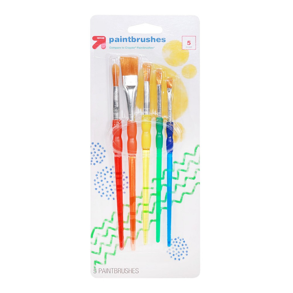 Image of Paint Brush Set 5ct - Up&Up