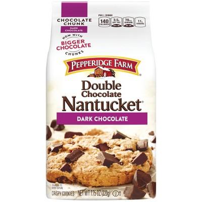 Pepperidge Farm Nantucket Crispy Double Chocolate Chunk Cookies - 7.75oz