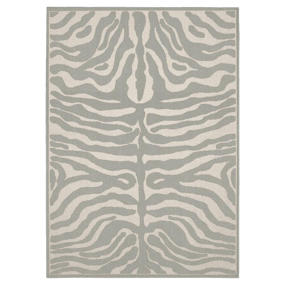 Garland Safari Area Rug - Silver/Ivory (5'X7')