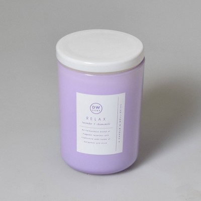 8oz Wellness Spa/Relax Lavender and Chamomile Candle - DW Home