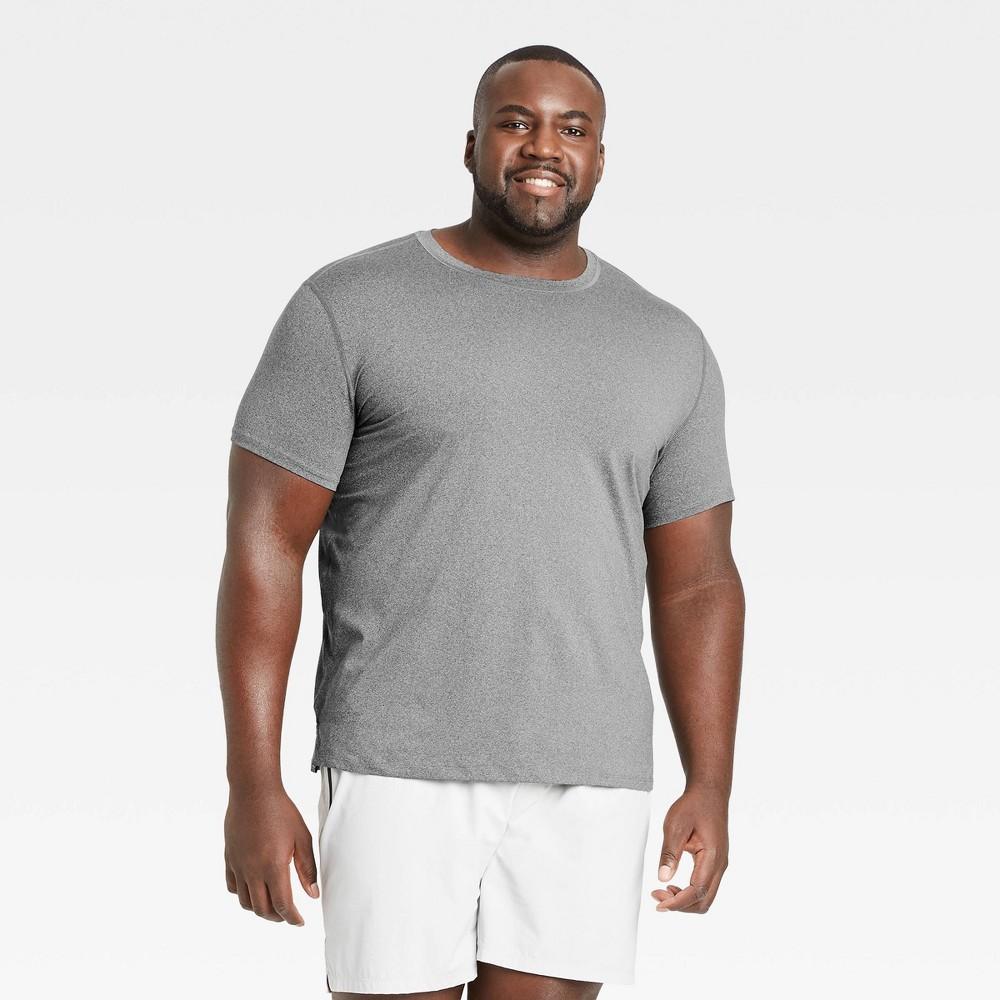 Men 39 S Big 38 Tall Short Sleeve Performance T Shirt All In Motion 8482 Gray Heather Xxxl