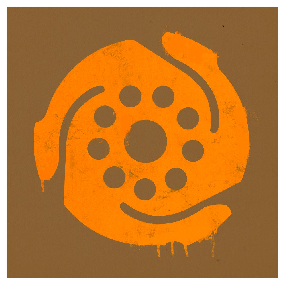 45 Rpm Unframed Wall Canvas Art Brown - (24X24), Multi-Colored