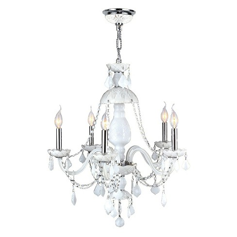 "World Wide Lighting Ceiling Light - White/Silver (14 X 22 X 13"") - image 1 of 1"