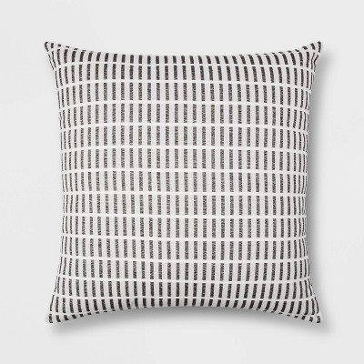 Woven Linework Pillow Oversize Square Cream/Black - Project 62™