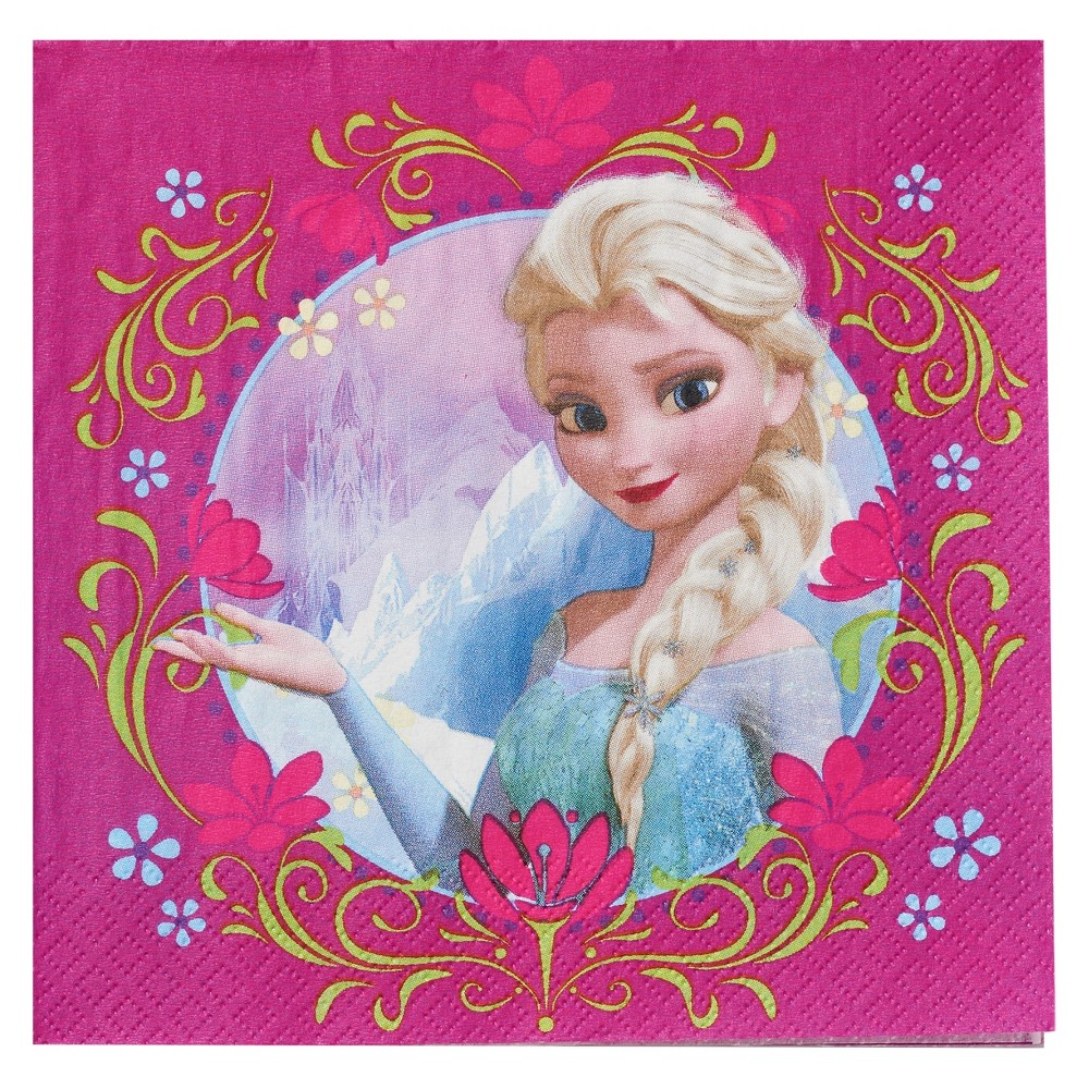 Image of 16 ct Frozen Anna & Elsa Napkin
