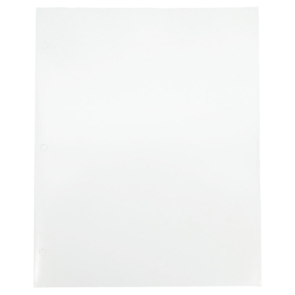 Image of 2 Pocket Paper Folder White - Pallex