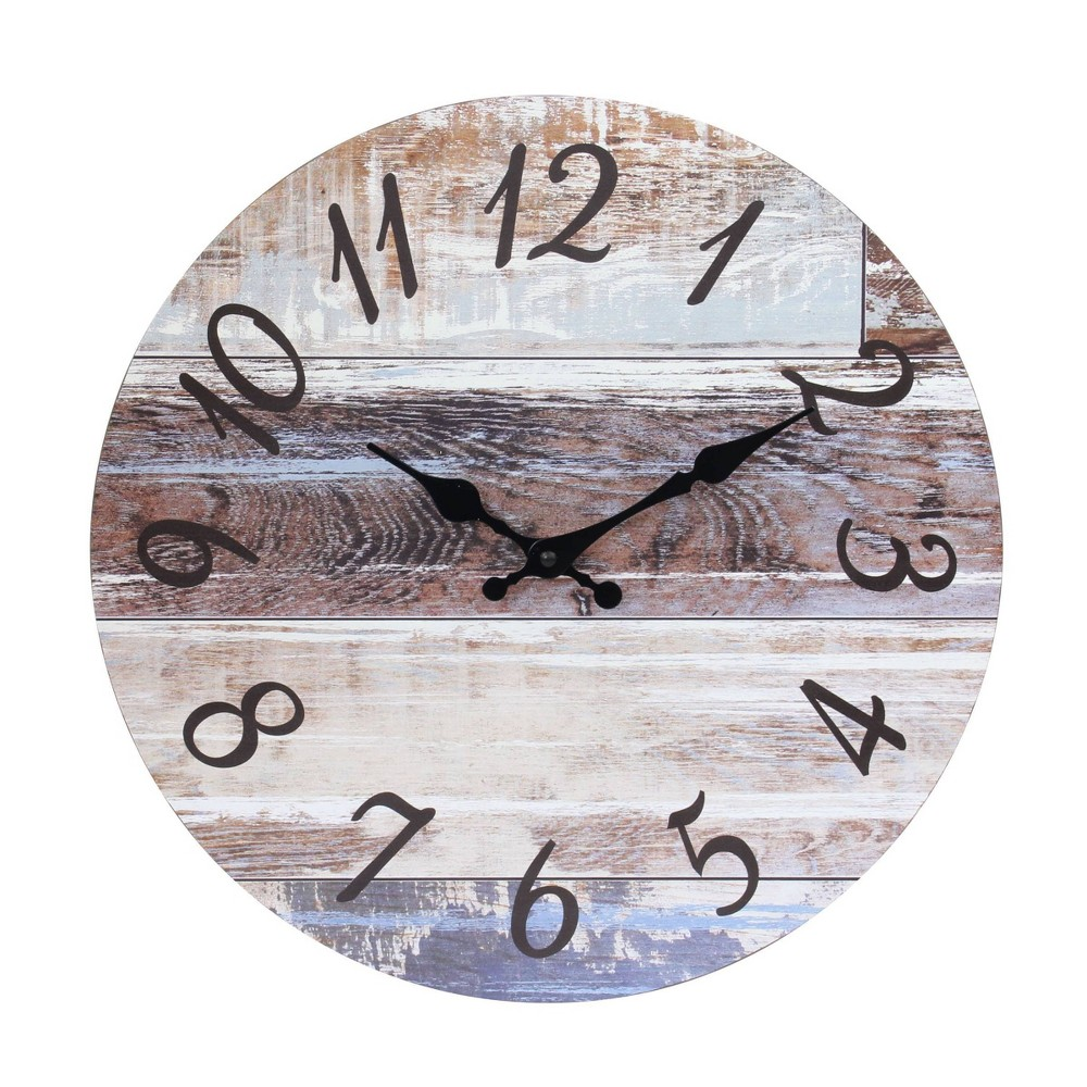 """Image of """"14"""""""" Round Vintage Wall Clock - Stonebriar Collection"""""""