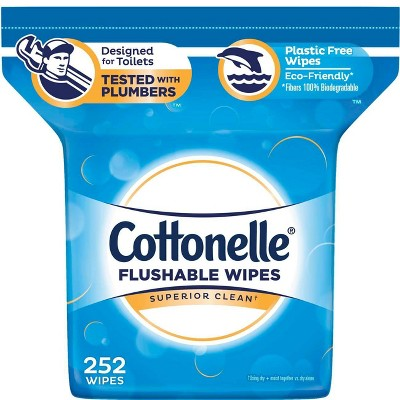 Cottonelle Fresh Care Flushable Cleansing Cloths Refill - 252ct