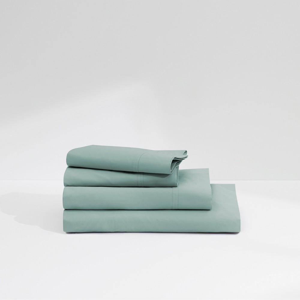 Image of Casper California King Twill 360 Thread Count Sheet Set Mint (Green)