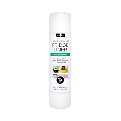 """Mindfull 13"""" x 15' Antimicrobial Frosted Fridge Liner White"""